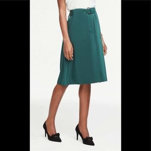NWT Ann Taylor midi belted skirt